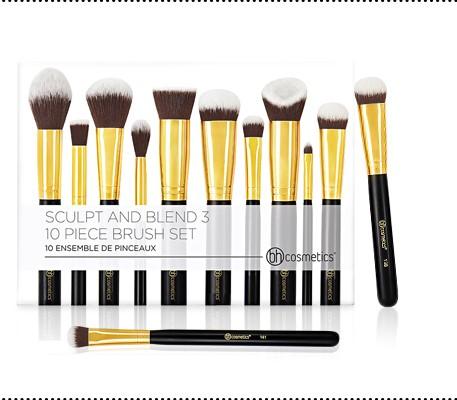 13d860f0f00f6 BH Cosmetics Sculpt and Blend 3 – 10 Piece Brush Set – BeautyMart NG